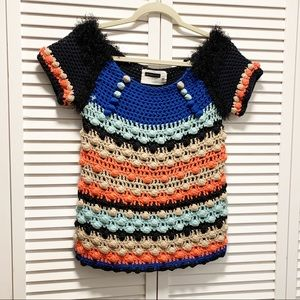 Leifsdottir Knit Multi Color Top